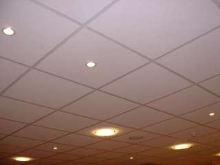 Suspended ceiling with recessed lighting
