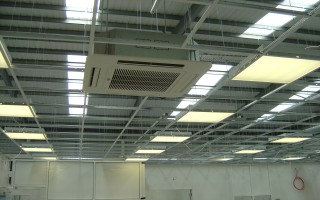 Suspended ceiling construction