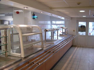 Hot and Cold Stainless Steel Servery Counter